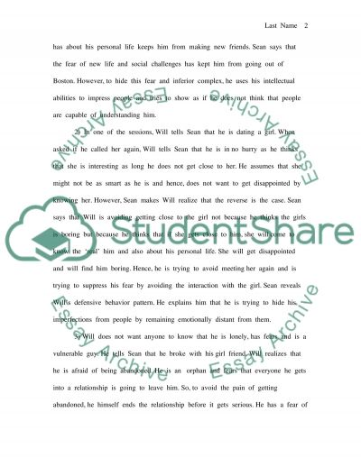 Good Will Hunting and Cognitive Therapy essay example