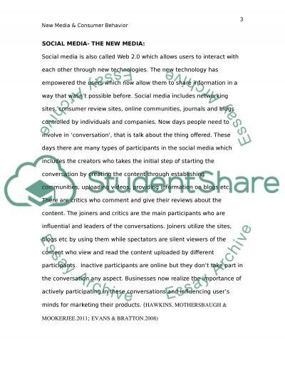 New Media and Consumer Behaviour essay example