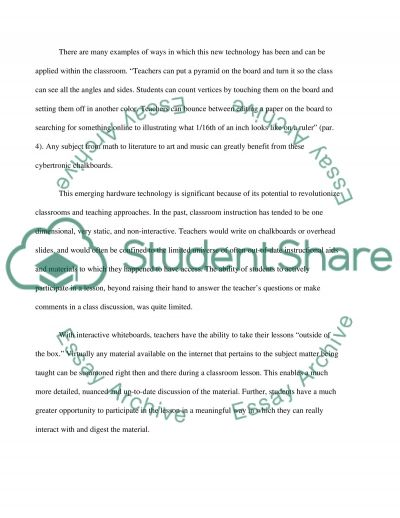 Interactive Whiteboards essay example