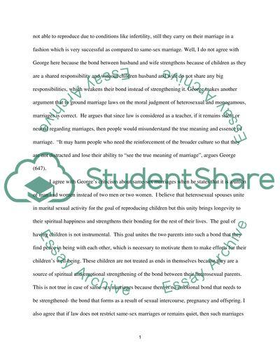 Wonder Of Science Essay Samesex Marriage Essay Thesis Statement Generator also Written Essay Papers Samesex Marriage Essay Example  Topics And Well Written Essays  Reflection Paper Essay