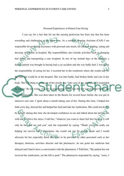 narrative essay example topics