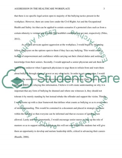 Taking a Stand Research Paper example