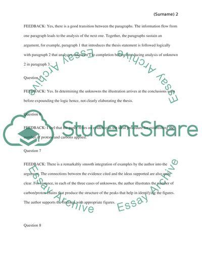 Lab report peer review