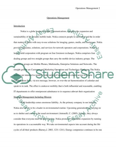 operation management essay example Writing cause and effect papers  writing a process paper   for example, the writer of  if there is a trick to writing a process paper, .