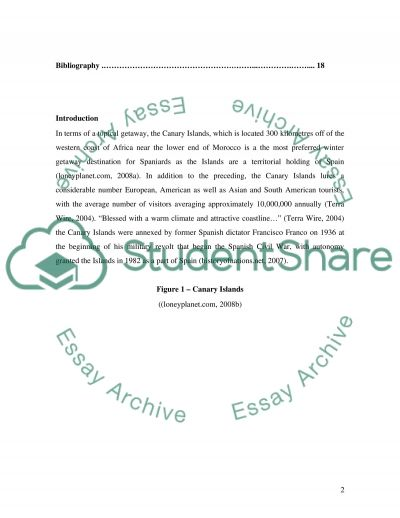 Visitor and destination management plan essay example