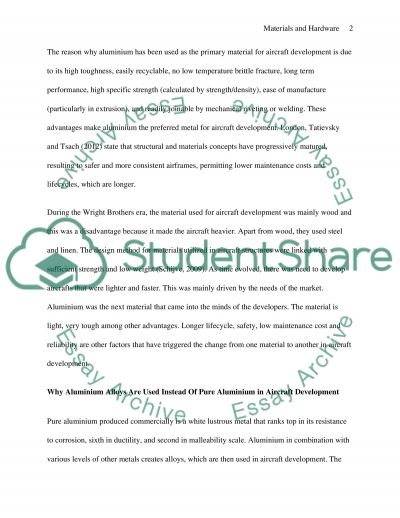 Materials and Hardware Essay example