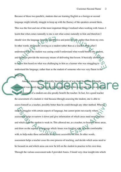 background of essay