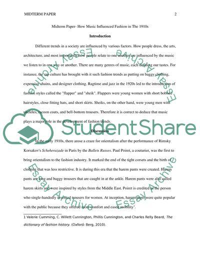 midterm essay music