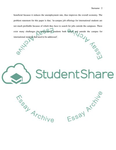 essay visit for international students