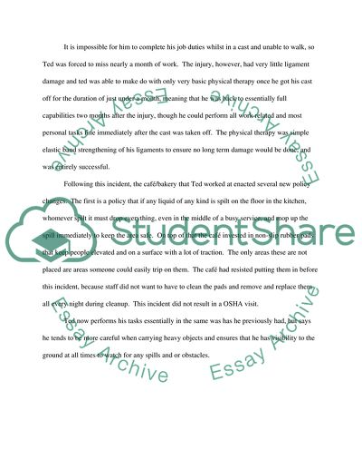 Sample Incident Report Letter Word from studentshare.info