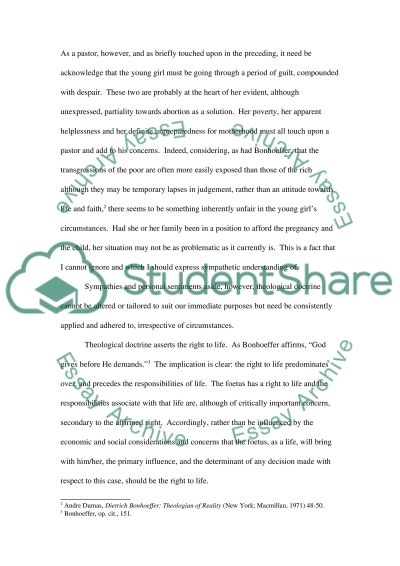 Theology College Essay essay example