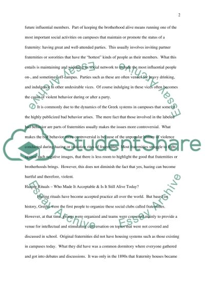 Bad Behavior on College Campuses essay example
