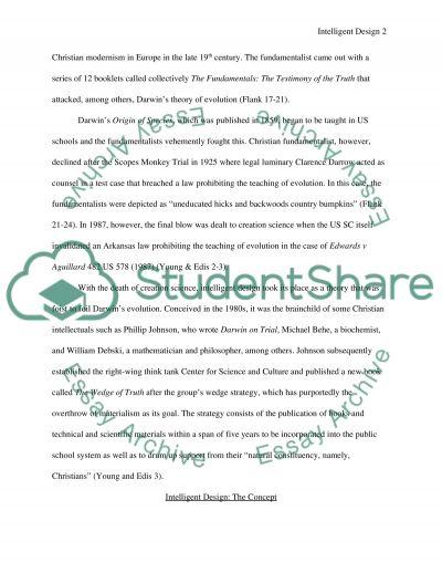 Intelligent Design Philosophy Essay essay example