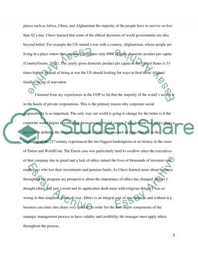 Ethics And Strategy essay example
