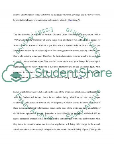 Gun Control essay example