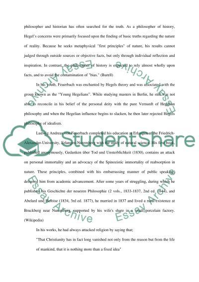 Feuerbach essay example