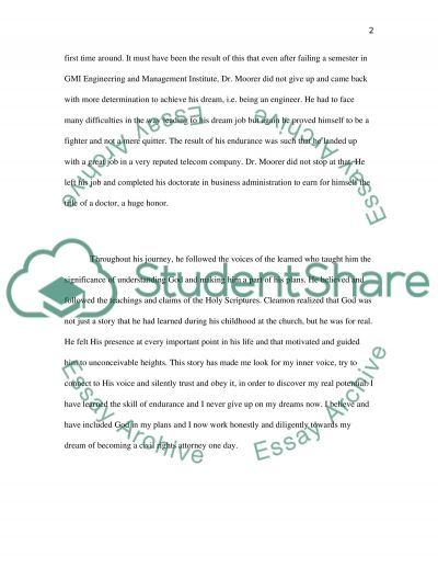 From Failure to Promise Essay