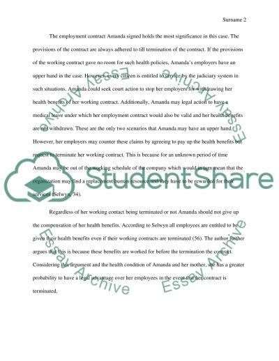 Labor Law DIscussion board 3 essay example