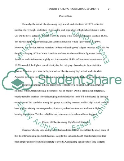 obesity essay example  topics and well written essays    words    obesity