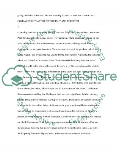 Essay Proofreader Hatshepsut And Nefertiti Comparecontrast Essay Example Commentary In An Essay also Creative Titles For Essays Hatshepsut And Nefertiti Comparecontrast Research Paper Narrative Descriptive Essay Samples