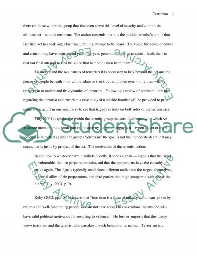 Terrorism Case Study essay example