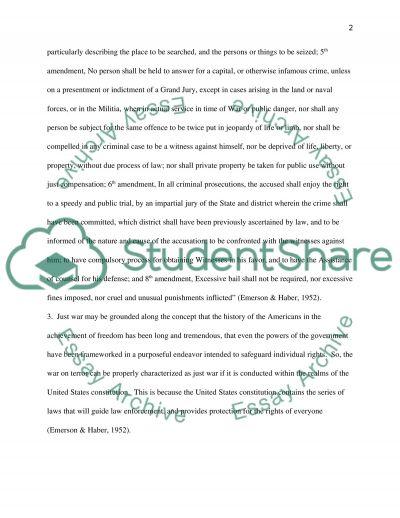 Countrterrorism essay example