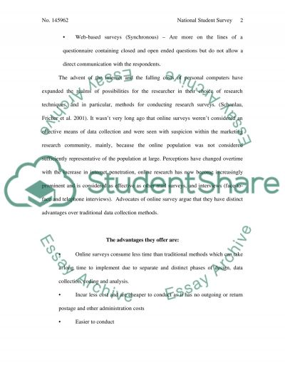 National Student Survey Essay example