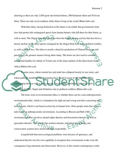 Endangered Species Paper