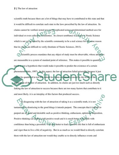 What Is An Essay Thesis The Law Of Attraction  Essay Example Apa Format Sample Paper Essay also Management Buy Out Business Plan The Law Of Attraction Essay Example  Topics And Well Written Essays  Which Is The Best Writing Service On The Web