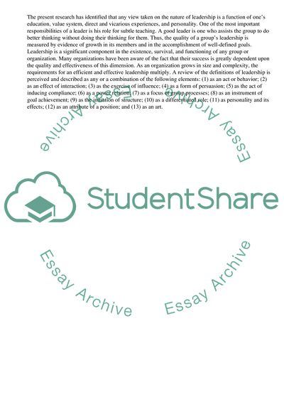 Strategic Leadership Research Paper Example | Topics and