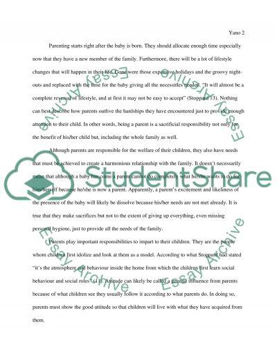 Parenting Essay essay example
