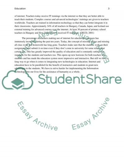 How Do Teachers Use the Internet in Education essay example
