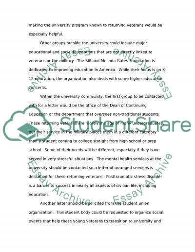 Community Partners Identification Assignment essay example