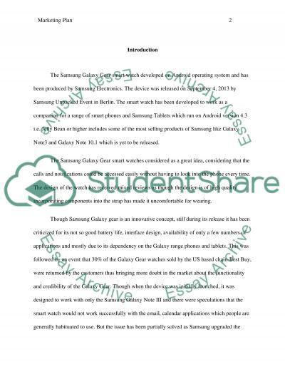 Marketing plan essay example