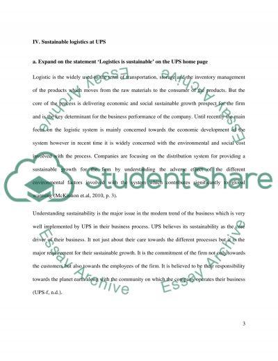 Ups essay