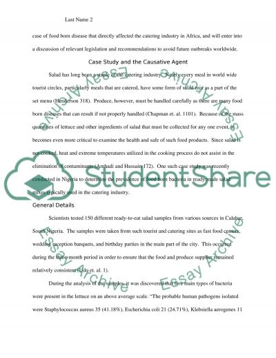 Hospitality Management--Food Safety Management essay example