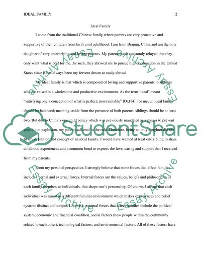 Ideal family essay best case study editing websites for college