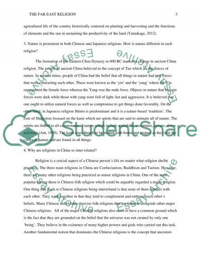 The Far east essay example