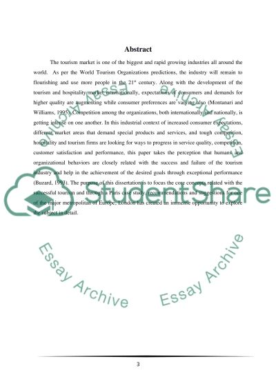 An assessment of Paris competitive strategy in the European tourism industry essay example