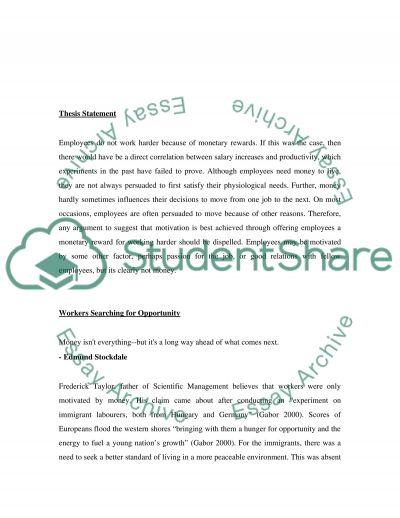 Mananging people and Organsiations essay example