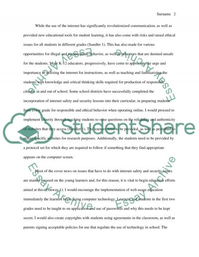 Technology ethis in the classroom essay example