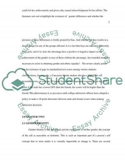 Gender Differences essay example