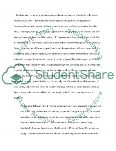 Target Background Research Paper essay example