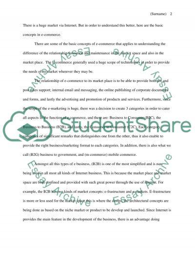 Emarketing essay example