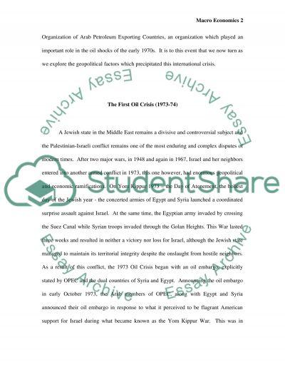 Macro Economics essay example