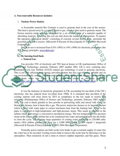Electricity Generation in the UK Essay Essay example