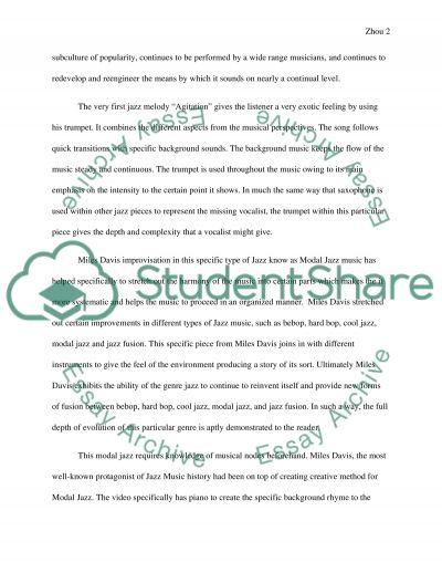 Jazz essay example