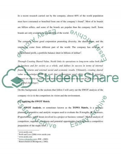 ford motor company swot analysis net swot analysis in nestle essay example