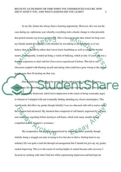 failure essay example