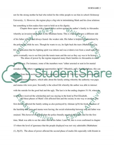 kaffir boy abuse of power assignment example topics and well  kaffir boy abuse of power essay example